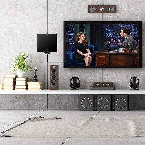 Liger Ultra-Thin Indoor HDTV Antenna and Amplifier (50-Mile)