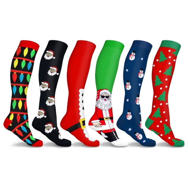 DCF Holiday Knee-High Compression Socks (3 Pairs)