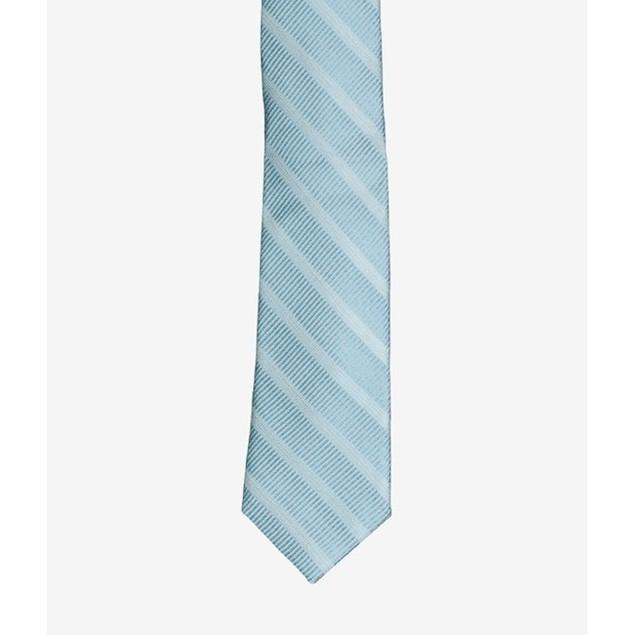DKNY Men's Sky Line Silk Slim Tie Turq/Aqua Size Regular
