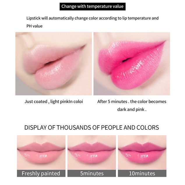 Lipstick Flowers Discoloration Moisturizing Lipstick Is Not Easy To Fade And Does Not Take Off