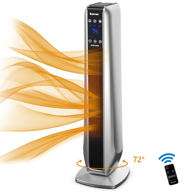 1500W Tower Heater Portable Oscillating Ceramic Space Heater