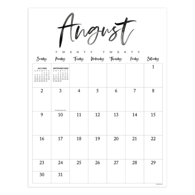 July 2020 - June 2021 Large Art Poster Monthly Wall ...