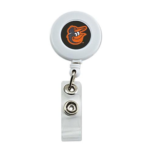Baltimore Orioles Retractable Badge reel White