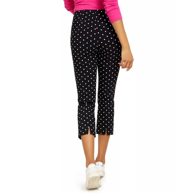 Charter Club Women's Capri Tummy-Control Skinny Pants Black Size 16