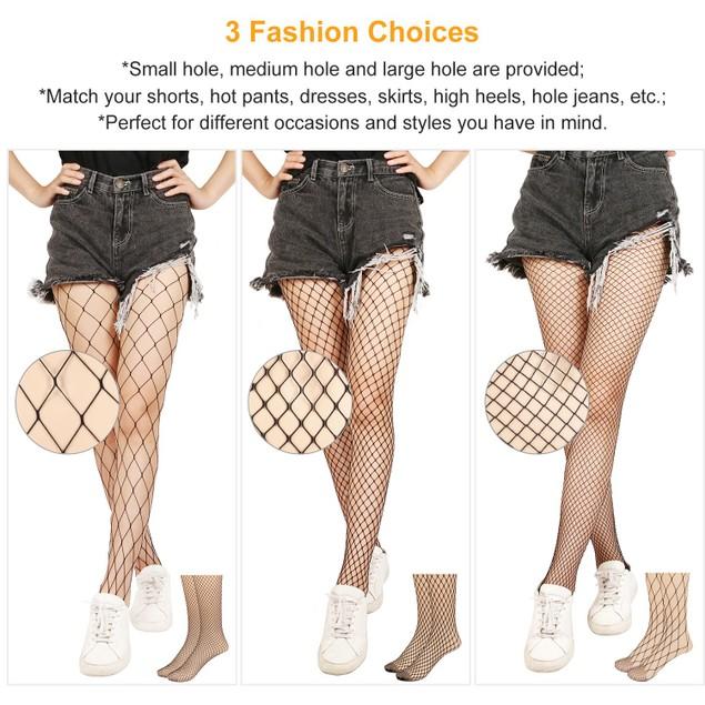 Women Fishnet Tights Sexy High Waist Fishnet Pantyhose
