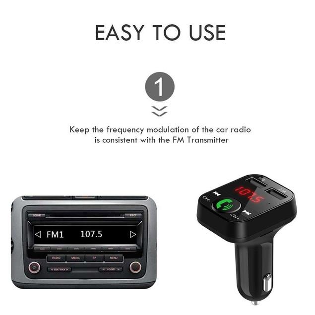 Handsfree Car Kit Wireless Bluetooth FM Transmitter MP3 Player USB Charger