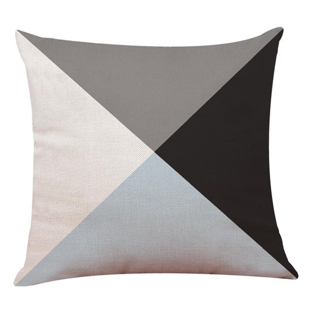 1pc Geometric  Pillowcases Waist Cushion Cover Sofa Home Decor