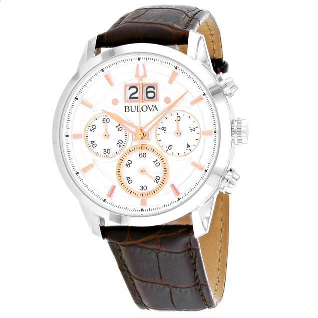 Bulova Men's Sutton Silver Dial Watch - 96B309