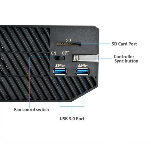 Xbox One External Hard Drive Case E-MODS Gaming, Media HUB w/Cooling Fan