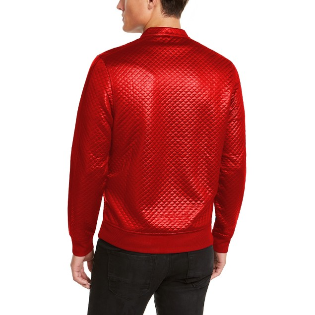 INC Internationa Concepts Quilted Knit Vacation Jacket Red Extra Large