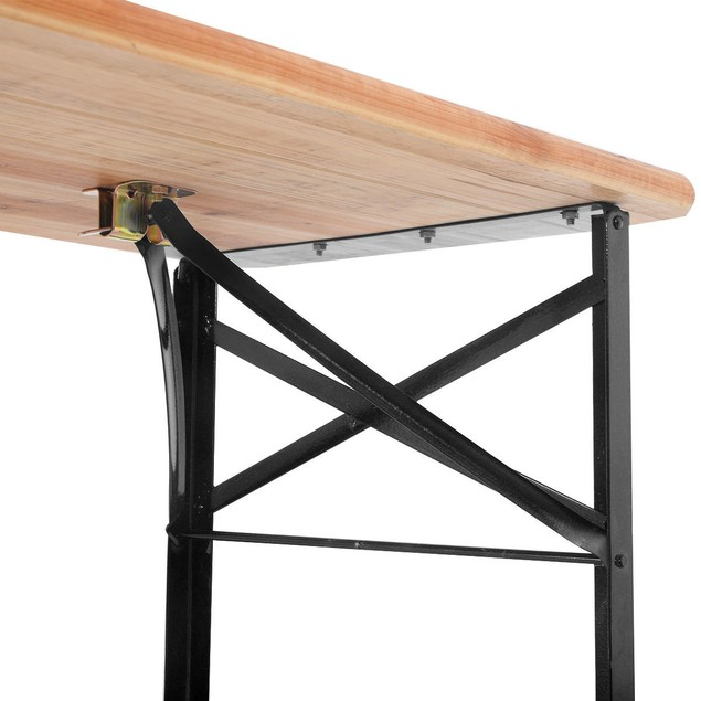 Costway 3 PCS Folding Wooden Top Picnic Table