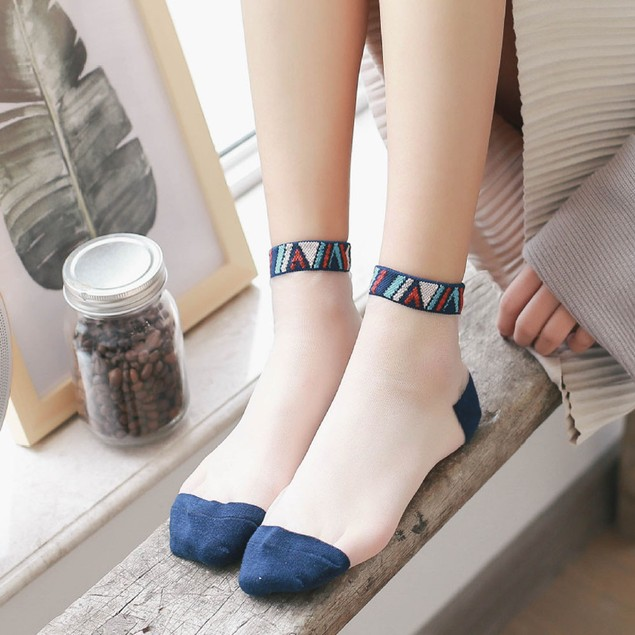 Lace Glass Stockings Female Spring And Summer Models Ultra-thin Ladies