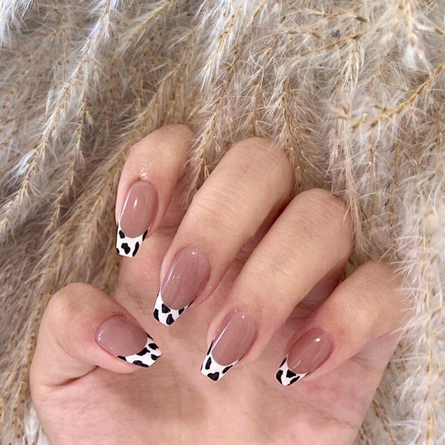 Small Milk Pattern Nail Stickers Waterproof And Removable
