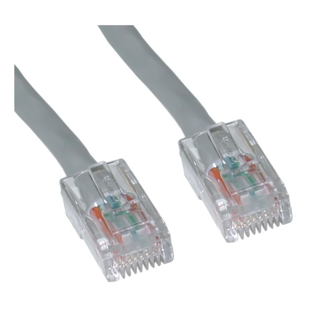 Cat5e Gray Ethernet Patch Cable, Bootless, 2 foot