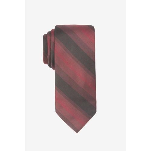 Ryan Seacrest Men's Leigh Slim Ombré Stripe Silk Tie Red One Size