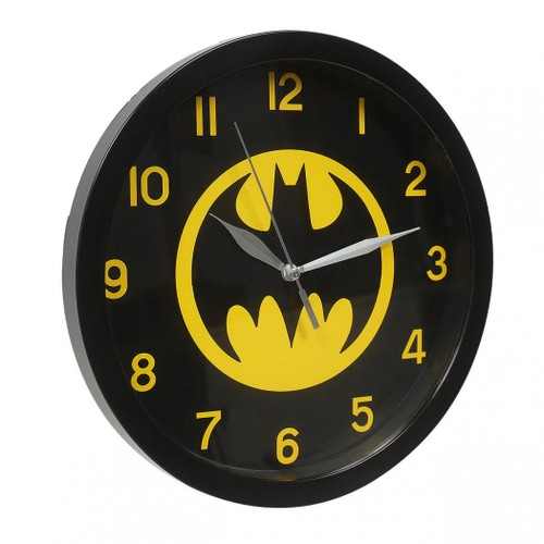 Batman Black on Yellow Symbol Wall Clock
