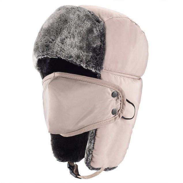 Winter Hat For Men Women Thicken Winter Earflap Keep Warm Caps Mask