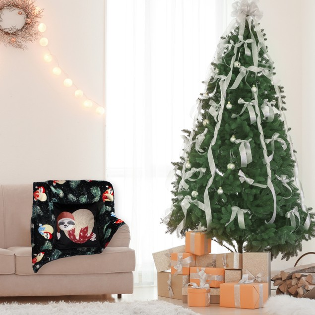 Holiday Pillow and Throw Gift Sets - Sloth