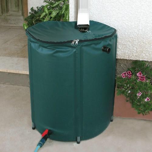 Collapsible 50 Gallon Rain Barrel Kit Rain Water Collection Barrel