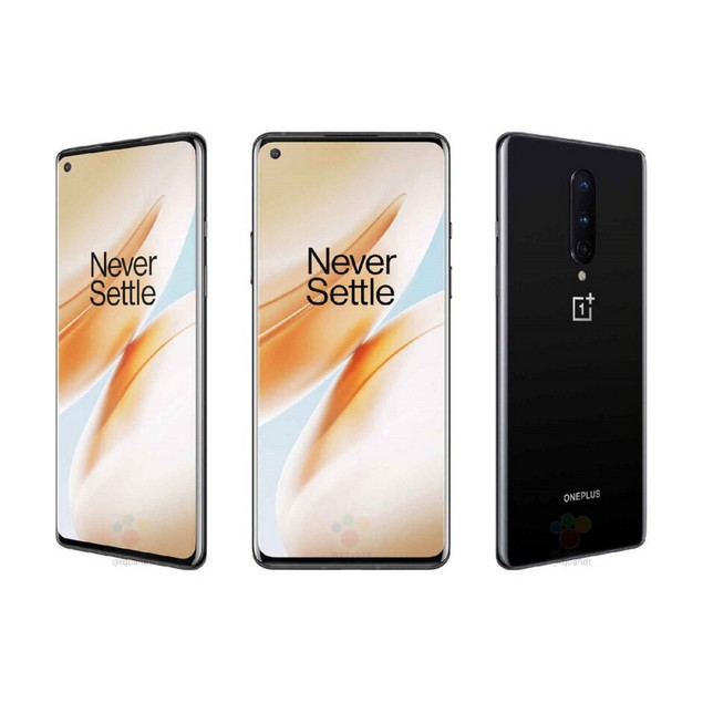 OnePlus 8 5G, T-Mobile, Black, 128 GB, 6.55 in Screen