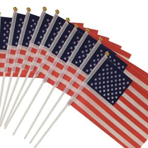 """10-Pack 5.5"""" X 8.3"""" American Flag"""