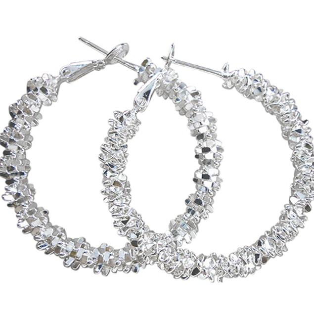 Women 925 Sterling Silver Hoop Earring