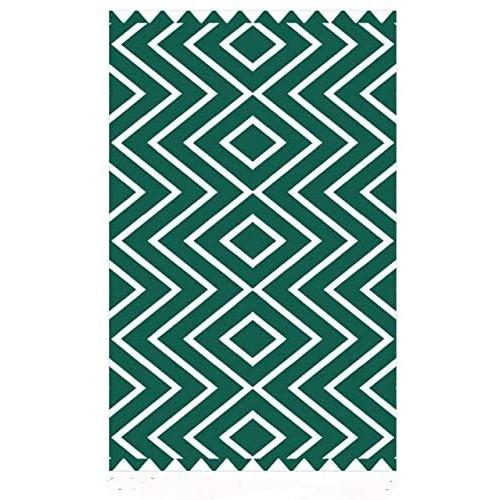 Spura Home Green 8x10 Printed Hand Made Canvas Area Rug Carpet