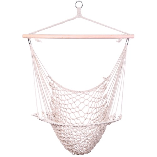 Cotton Hanging Rope Air/Sky Chair Swing Beige