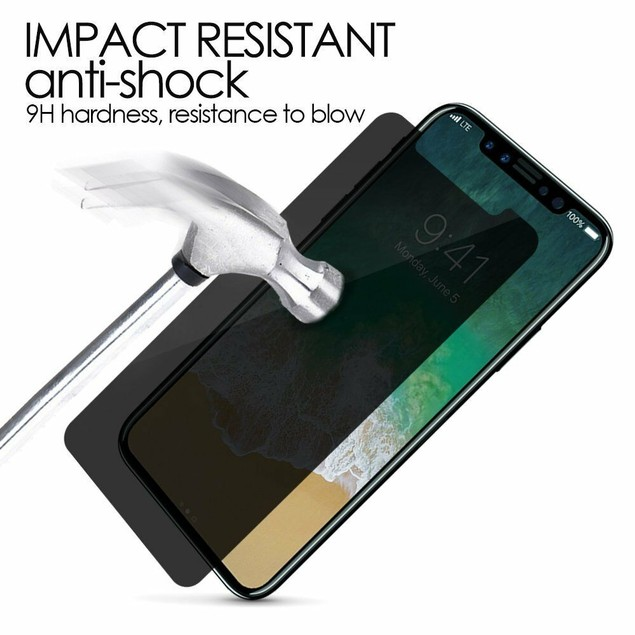 2-Pack iPhone X XS XR XS Max Privacy Tempered Glass Screen Protector