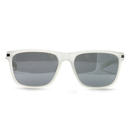Nautica Unisex Sunglasses N6222S 905 Matte Crystal 57 17 140 Gray Polarized