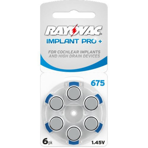 Rayovac Size 675P Implant Pro MF Zinc Air Hearing Aid Batteries (60 pack)