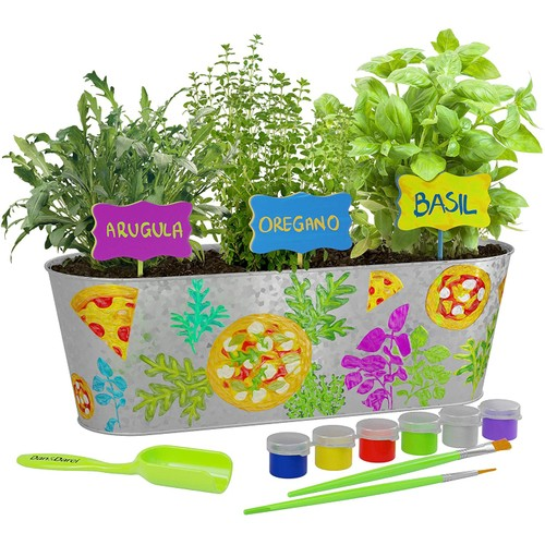 Paint & Plant Pizza Herb Growing Kit - Grow Basil, Oregano, Arugula Herbs Garden
