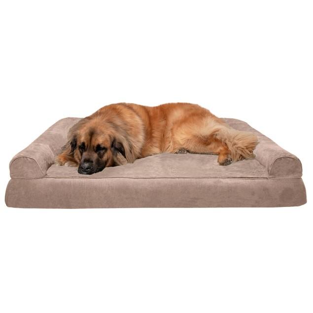 FurHaven Plush & Suede Convolute Orthopedic Sofa Pet Bed