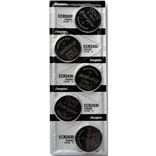 Energizer CR2430 3-Volt Lithium Coin Cell Batteries (5 Batteries)