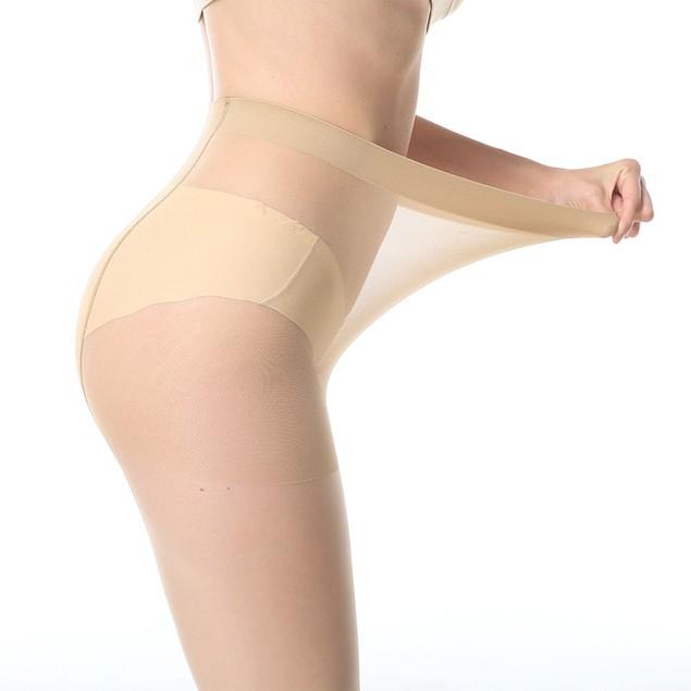 3Pcs Women's Plus Size Anti-Hook Silk Velvet Pantyhose