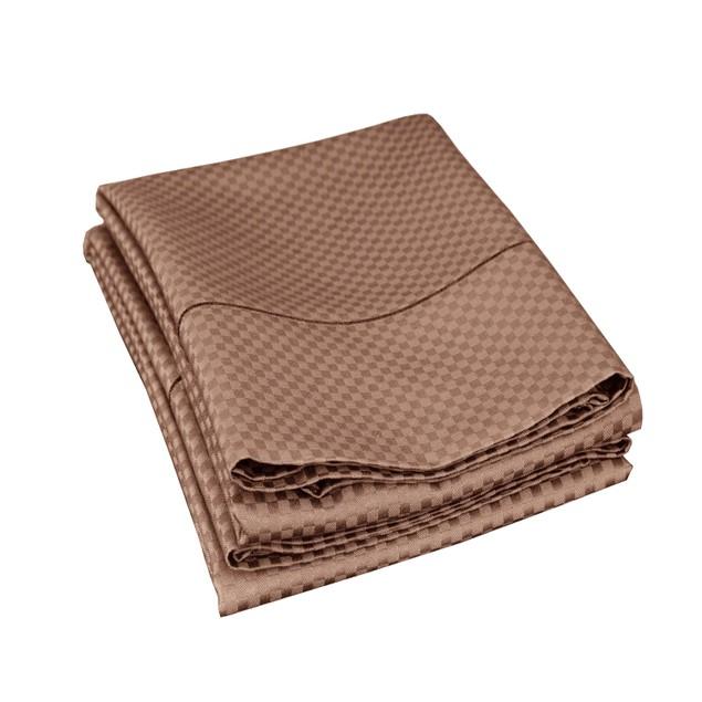 Checkered 800-Thread-Count Pillowcases Set, Cotton Blend
