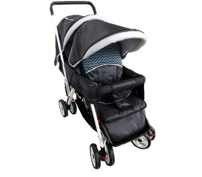Lightweight Deluxe Twin Black Double Stroller Was: $225.99 Now: $156.99.
