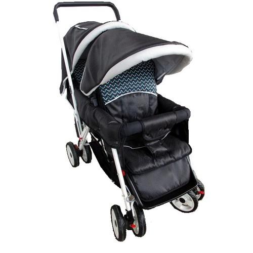 Lightweight Deluxe Twin Black Double Stroller