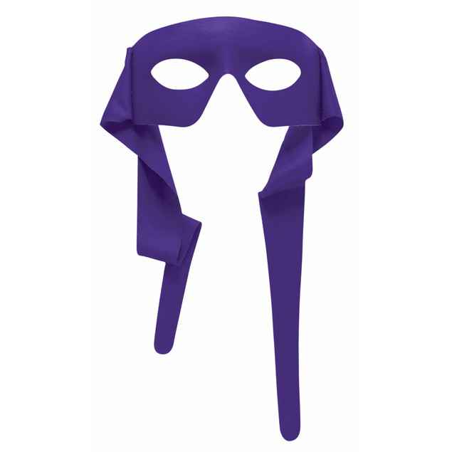Purple Eye Mask With Ties Eyemask TMNT Donatello Mardi Gras Accessory
