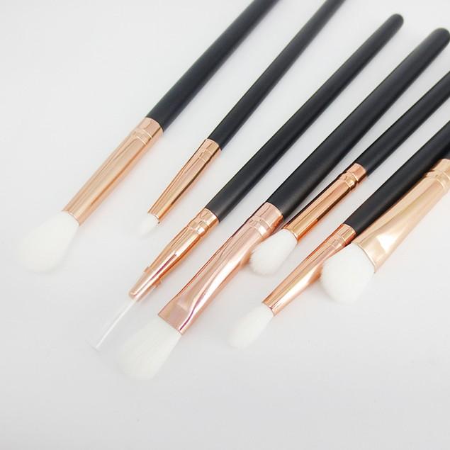 12 pcs Rose Gold Makeup Brush Eye Powder Blending Brush + Cosmetic bag