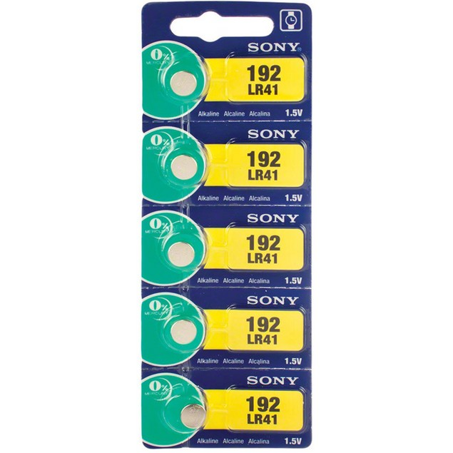 Sony LR41 (192) Alkaline Button Cell Battery (5 Pack)