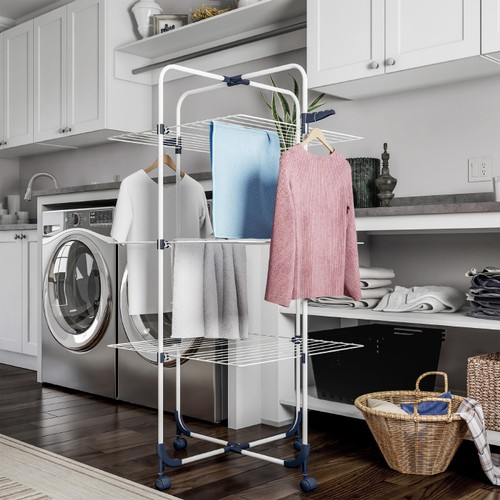 Clothes Drying Rack  3-Tiered Laundry Station
