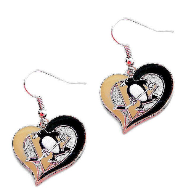Pittsburgh Penguins Swirl Heart Dangle