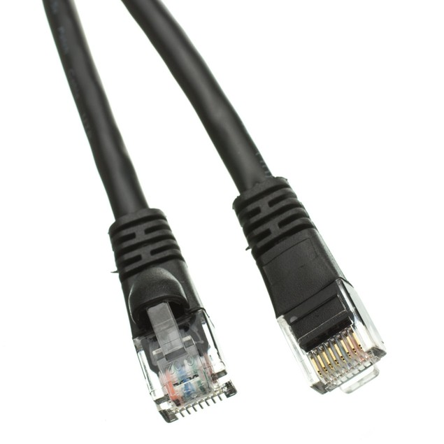 Cat6a Black Ethernet Patch Cable, 500 MHz, 3 foot