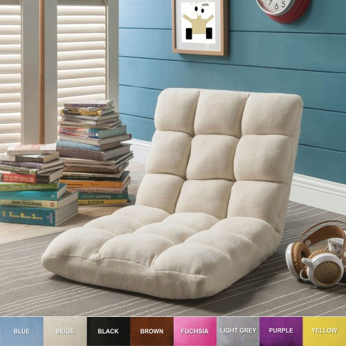 Loungie Microplush Modern Armless Quilted Recliner Chair