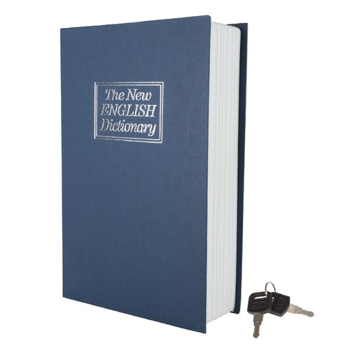 Lock Box with Key, Diversion Book Safe Portable Safe Box
