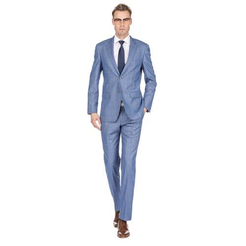 Gino Vitale Men's Check Slim Fit Suits
