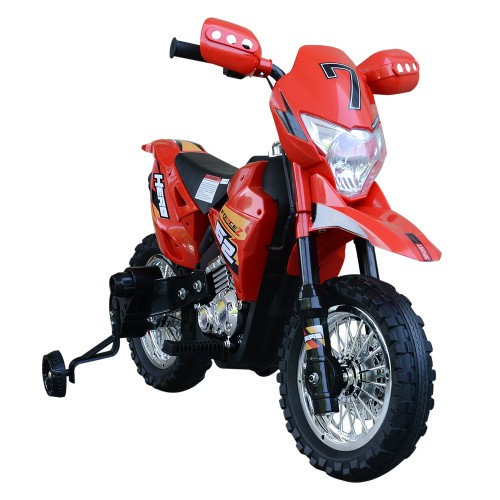 Ride-On Childrens Motorcycle w/ Real Driving Sounds & Fun Built-In Music
