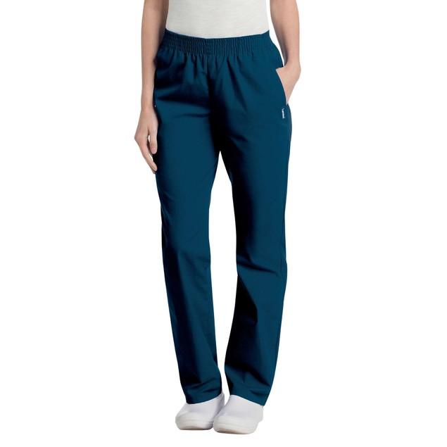 Landau Women's Classic Comfortable Relaxed Elastic Waist Scrub Pant, S,