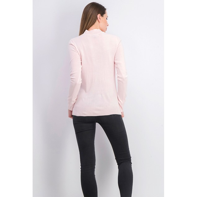 Karen Scott Women's Cable-Knit Crewneck Sweater Pink Size Large